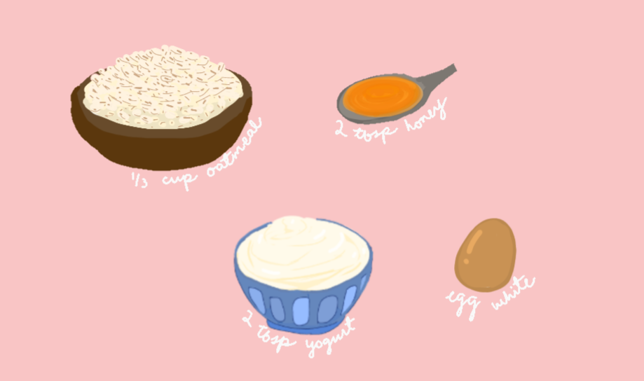 DIY Face Masks: Oatmeal, Yogurt, Honey, Egg white